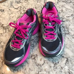 Brooks Gray & Pink Adrenaline GTS Running Shoes
